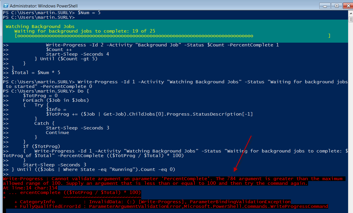 Monitoring the Progress of a PowerShell Job | The Surly Admin